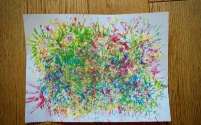 Feux d'artifice en peinture