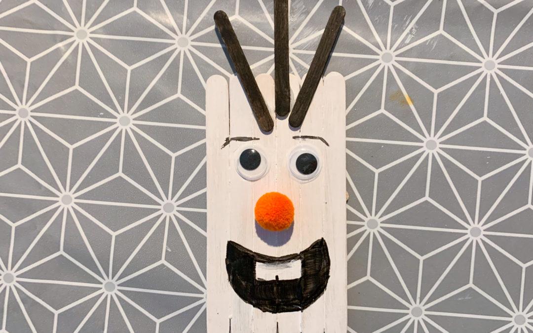 Bonhomme de neige en bâtonnets