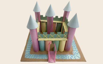 Château fort en rouleau de papier toilette et essuie-tout