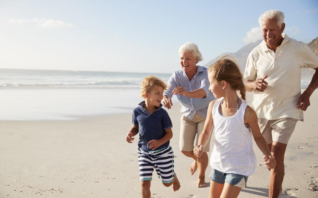Premières vacances chez les grands-parents
